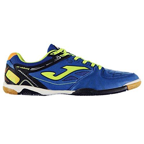 Joma Hombre Dribling Interior Corte Zapatillas Zapatos Deporte Entrenar Calzado Azul/Amarillo fluorescente