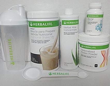 HERBALIFE COMBO FORMULA1 SHAKE MIX COOKIES, PROTEIN POWDER, ALOE ORIGINAL OR MANGO, XTRA CALL, SHAKER CUP, ()