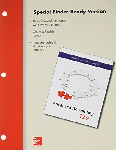advanced accounting looseleaf - 3