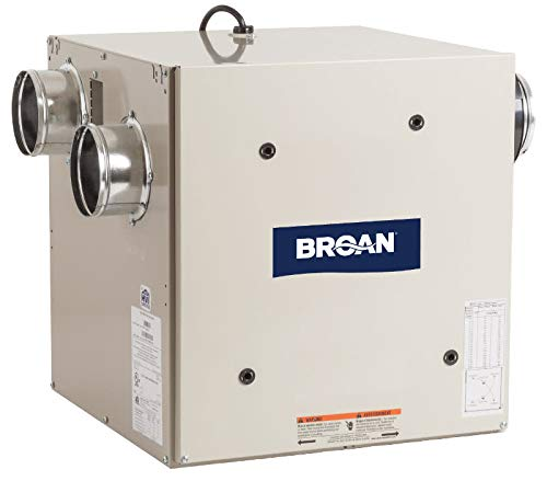 Broan ERV70S Energy Recovery Ventilator, 120V Side-Ports for 4