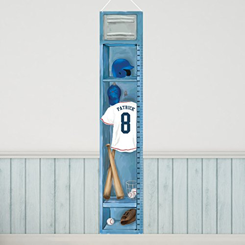 (Personalized Sports Locker Growth Chart for Boys - Baseball)