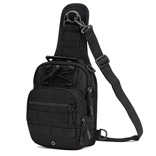 Huntvp Tactical Molle Sling Chest Pack Laptop Daypack Daysack Military Mini Backpack for Outdoors Sports