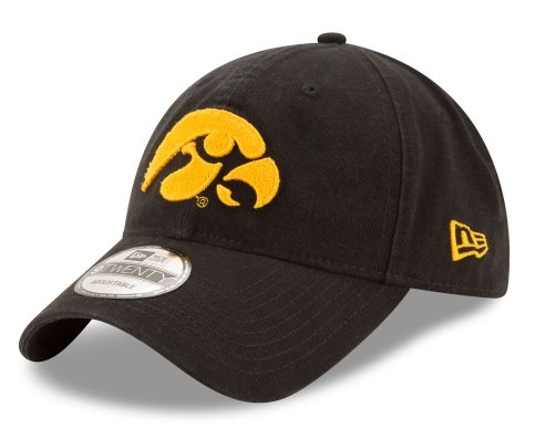 New Era Men's Iowa Hawkeyes Core Classic Black One Size Fits (Iowa Hawkeyes Wrestling)