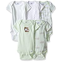 Gerber Baby 5 Pack Onesies, Teddy, 6-9 Months