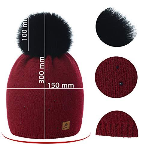 Fleece Big Bobble Bonnet Womens a Pom Wool Knit Winter Con Forro Ski Smile Snowboard 4sold Borgo Modelo 4 Cap f7x6q0X
