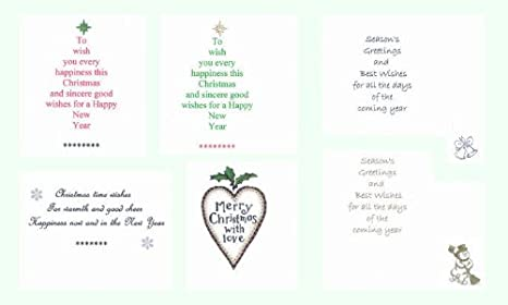 Pack Of 36 Christmas Cardmaking Card Inserts To Fit A6 Amazon Co Uk Electronics