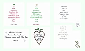 pack of 36 christmas cardmaking card inserts to fit a6 cards