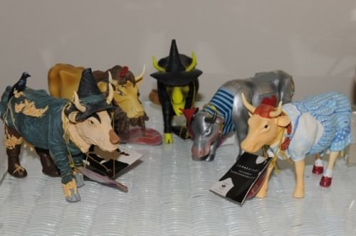 [Cows on Parade Wizard of Oz Complete Set Retired Dorothy, Lion, Scarecrow, Tin man, Witch] (Tin Man On Wizard Of Oz)