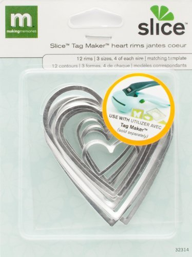 MAKING MEMORIES Slice Tag Maker Rims, Heart