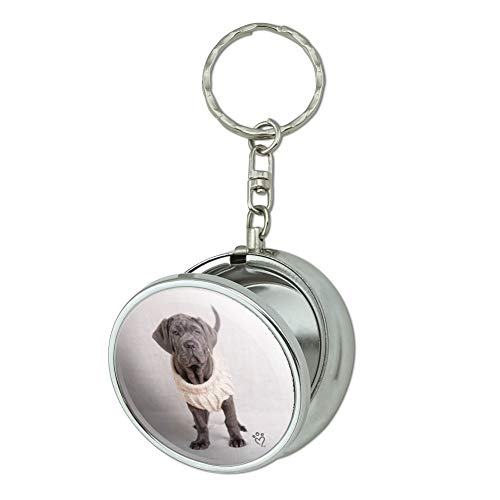 GRAPHICS & MORE Neapolitan Mastiff Dog Nifty Sweater Portable Travel Size Pocket Purse Ashtray Keychain with Cigarette ()