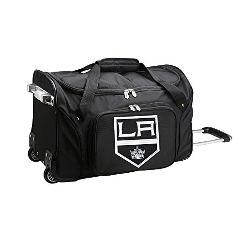 NHL Los Angeles Kings Wheeled Duffle Bag, 22 x 12 x 5.5, Black ()