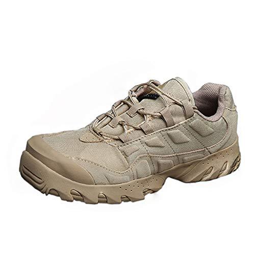 HJHHJHAB Bottes de l'armée Tactique Hommes Chaussures de Sport Basses imperméables Chaussures de randonnée en Plein air… 1