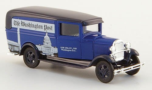 Ford Model AA, the Washington Post , Model Car, Ready-made, Busch 1:87