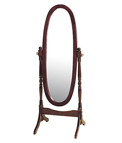 Crown Mark Cheval Mirror, Brown (Cherry Oval) ()