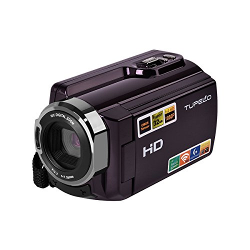 Camera Camcorder,TUPELO HDMI 1080P Wifi FHD Digital Video Camera 16 X Digital Active Zoom Infrared Night Vision 30FTPS Camcorder with Digital Rotation LCD Touchscreen (Purple) (1080P Camcorder) by TUPELO