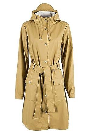 Rains Las lluvias Curve chaqueta en color caqui: Amazon.es: Ropa y accesorios