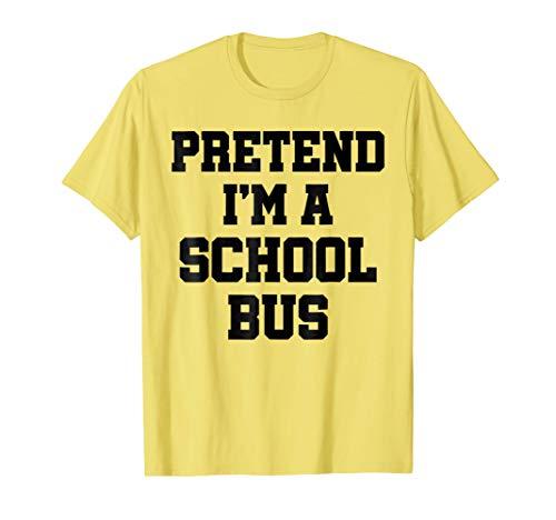 Pretend I'm a School Bus Lazy Halloween Costume -