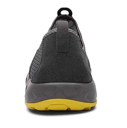 Mens Da Donna Fung-wong Slip On Traspirante A Rapida Asciugatura Aqua Water Shoes Deep Grey