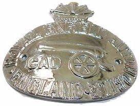 Comt/é de Enfield Royal Enfield plaqu/é argent Garde-boue arri/ère en Badge