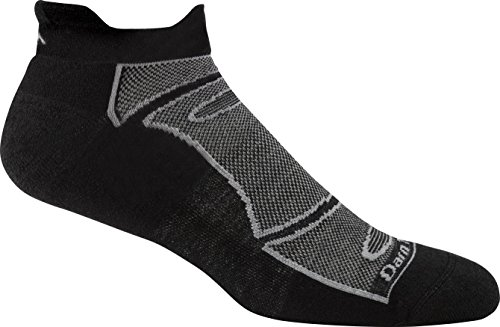 Darn Tough Men's No-Show Light Cushion Athletic Socks, ( Style 1722 ) - 6 Pack Black/Gray, Medium