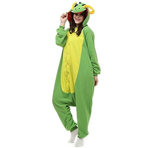 Womens Sexy Sea Monster Costumes (Seeshine Adult Unisex Onesies Animal Cartoon Siamese Pajamas In Winter Long Sleeve Siamese Home Wear Cosplay Costume Pajamas(Dragon/L))