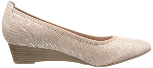 22304 Salmon Struct Gold Pumps Tamaris Closed Women's Toe RzaxwRA5q
