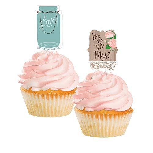 Creative Converting 98706 Cupcake Cake Topper, 2.75 x 2, Multicolored