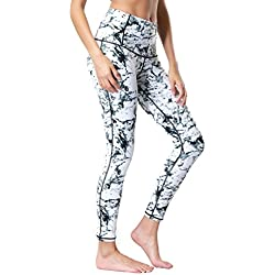 Dragon Fit Compression Yoga Pants Power Stretch Workout Leggings With High Waist Tummy Control, 02white, Medium
