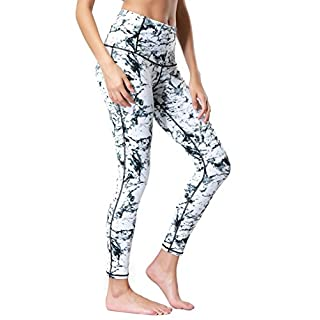 Dragon Fit Compression Yoga Pants Power Stretch Workout Leggings With High Waist Tummy Control, 02white, Large