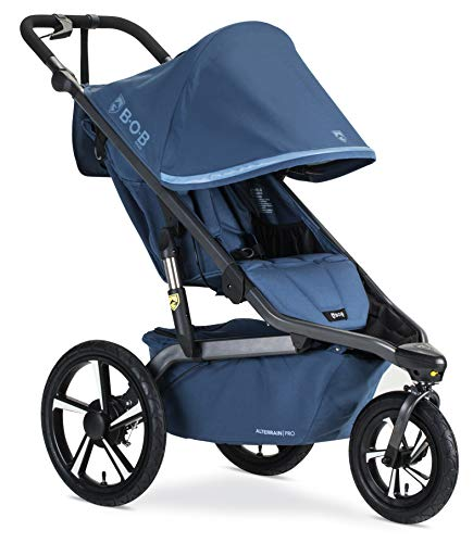 BOB Gear Alterrain Pro Jogging Stroller – Birth to 75 Pounds, Blue