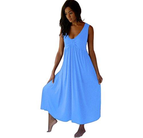 LOTUSTRADERS Damen Tiefer V-Ausschnitt Kleid Aqua j3UJ2