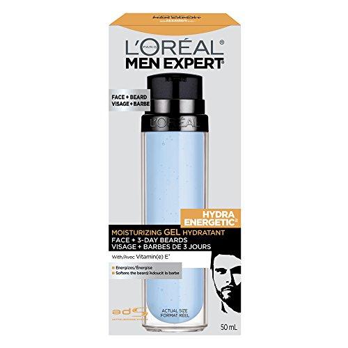 L'Oreal Paris Men Expert Hydra Energetic Face + 3-Day Beard Gel Moisturizer With Vitamin E 1.7Fl.oz/50ml