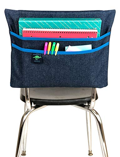 Aussie Pouch Chair Pocket with Double Pocket Design, Large, 17 Inches, Blue -