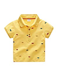 D-Sun Boys T-Shirt Cotton Casual Polo Shirt Printing Car Short Sleeve Clothes Tops