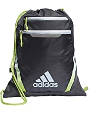 adidas Unisex Rumble III Sackpack, Grey Six/Sky Tint Blue/Semi Solar Slime, ONE SIZE