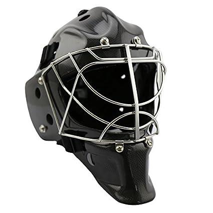 Gy Gh8000 C Carbon Fiber Black Ice Hockey Goalie Helmet For Goalie