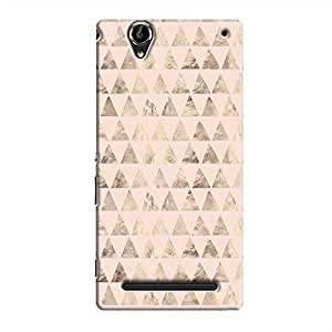 Cover It Up - Brown Light Pink Triangle Tile Xperia T2 Ultra Hard Case
