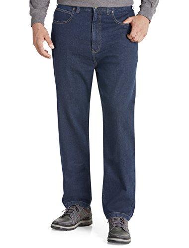 Harbor Bay Big And Tall (Harbor Bay DXL Big and Tall Continuous Comfort Jeans, Dark Wash 46 X 32)