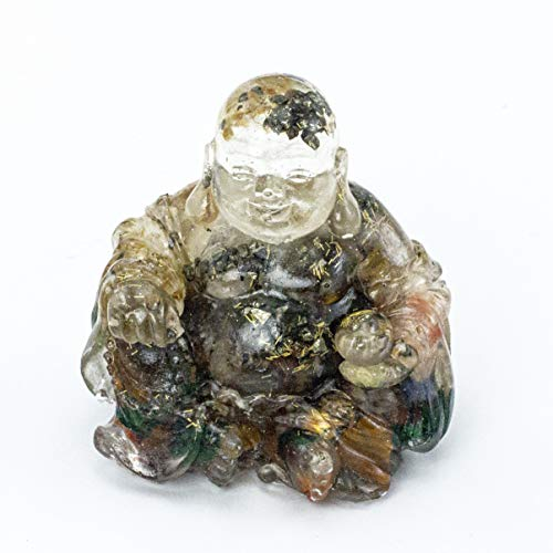 Energy Filled Crystal Laughing Buddha Resin and Embedded Crystals Manifestation Metaphysical Properties #87 by Inspirational Goodies (Image #8)