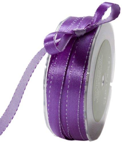 May Arts 3/8-Inch Wide Ribbon, Purple and Lavender Satin (Ribbon Satin Reversible Trim)