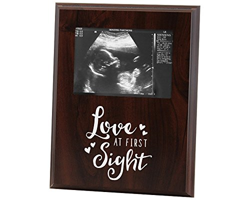 Sonogram Picture Frame Love at First Sight for New Mom Gift Or Announcement (Love Announcements)