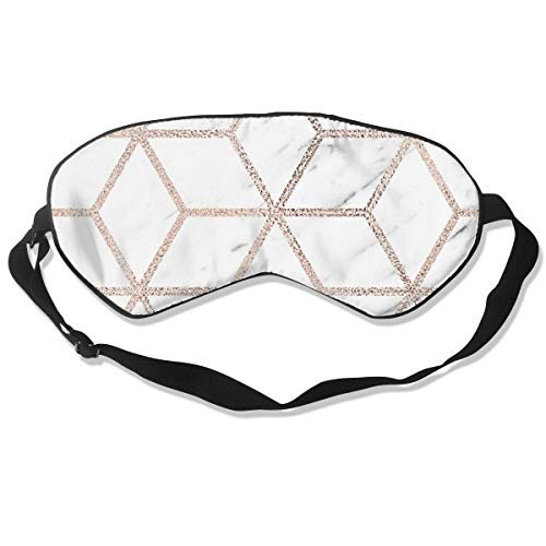 GRFER Olympia Rose Marble Geometry Best Sleep Mask Travel, Nap, Adjustable Belt Eye Mask for Men and Women