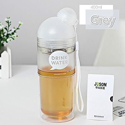400ml My Bouteille d'eau Carton respectueux de l'environnement Direct boire Fille Plastique My Bouteille d'eau avec couvercle randonnée Cute utile