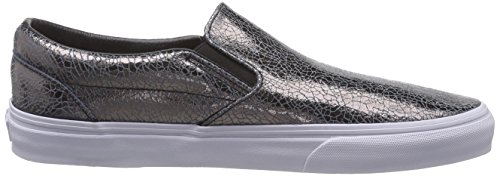 Vans Classic Slip-On, Unisex-Erwachsene Sneakers Gold (cracked Metallic/gunmetal/true White)