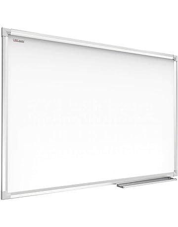 ALLboards Lavagna Bianca Magnetica Cancellabile a Secco Cornice in Alluminio Anodizzato Superficie Laccata Vassoio Portapennarelli Diverse Dimensioni