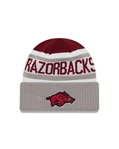 NCAA Arkansas Razorbacks Biggest Fan 2.0 Cuff Knit Beanie, Gray, One Size