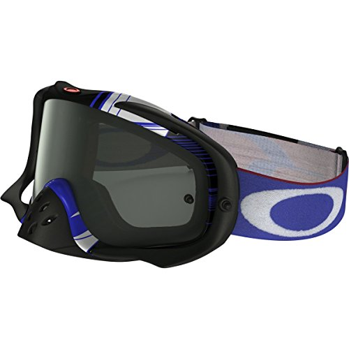 Oakley Crowbar MX Ryan Dungey Adult Off-Road Motorcycle Goggles Eyewear - Block Pass RWB/Dark Grey / One Size Fits - Sunglasses Ryan