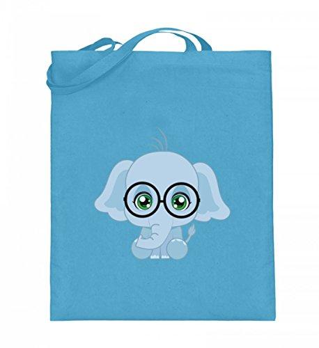 Shirtee R3EO7LX9_XT003_38cm_42cm_5739 - Bolso de tela de algodón para mujer Azul azul 38cm-42cm Azul Claro