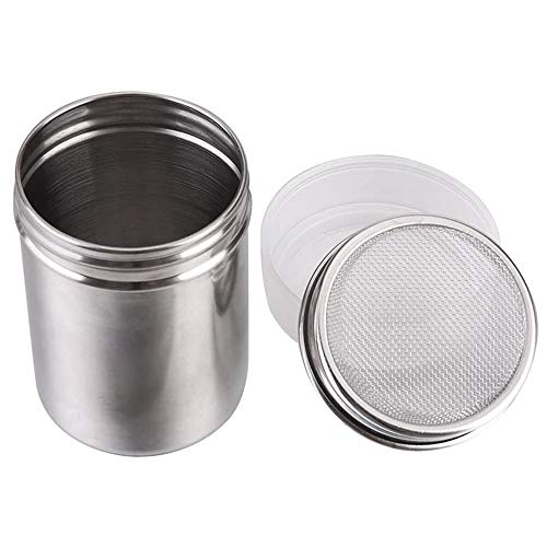 - Coolrunner Steel Chocolate Shaker Icing Sugar Powder Cocoa Flour Coffee Sifter Cooking Tools Lid Chocolate Shaker Cocoa