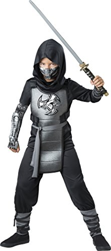 Art World Halloween Costumes (InCharacter Combat Ninja Costume, Black/Gray, X-Large)
